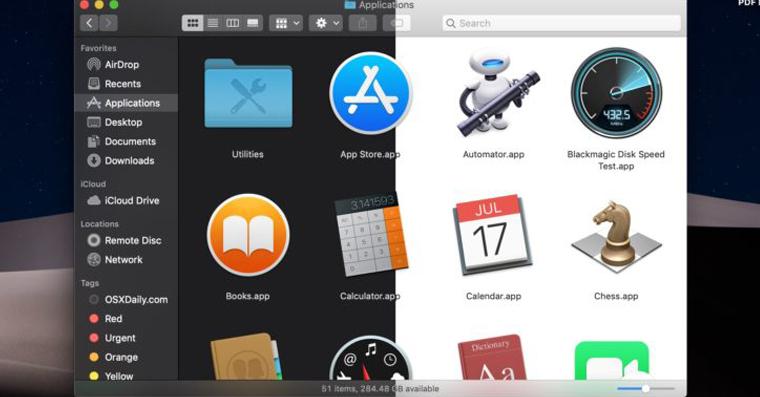 macOS 10.14 Mojave: Ako zapnúť tmavý režim